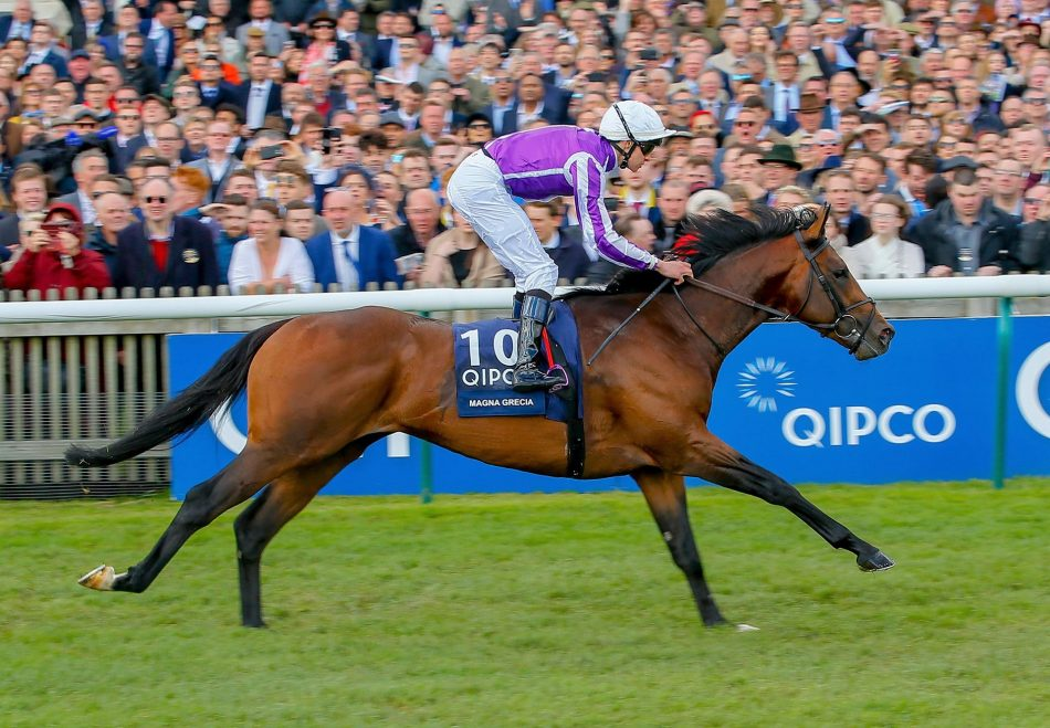Magna Grecia winning the Gr.1 2,000 Guineas at Newmarket