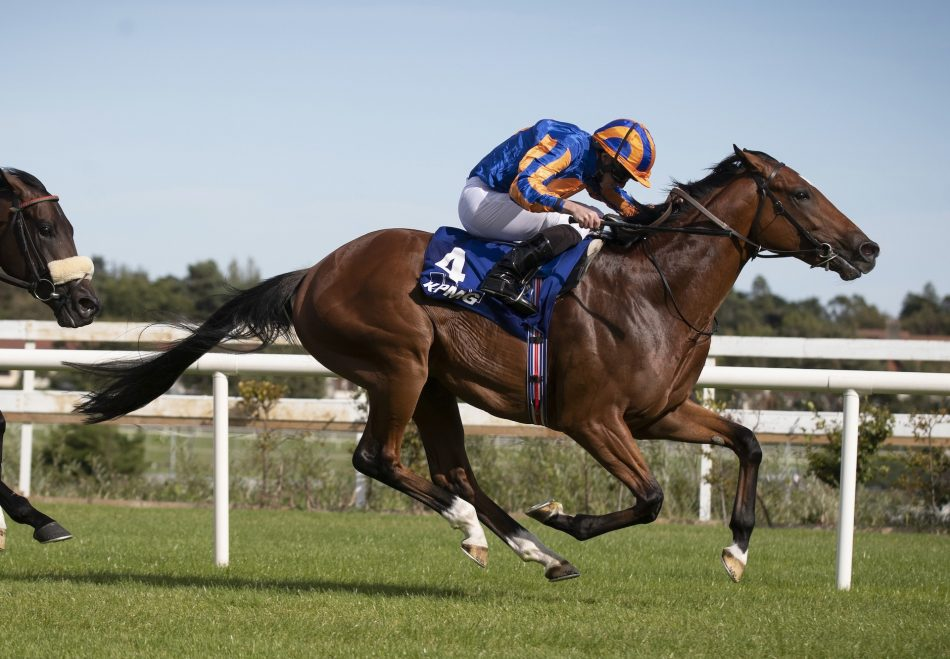 Euginio (Fastnet Rock) winning the G3 Darley Stakes at Newmarket