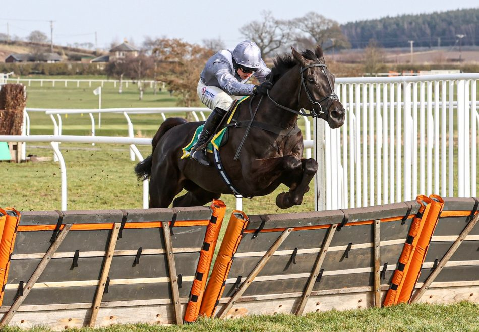 Peter The Mayo Man (Dylan Thomas) winning a novice chase at Doncaster