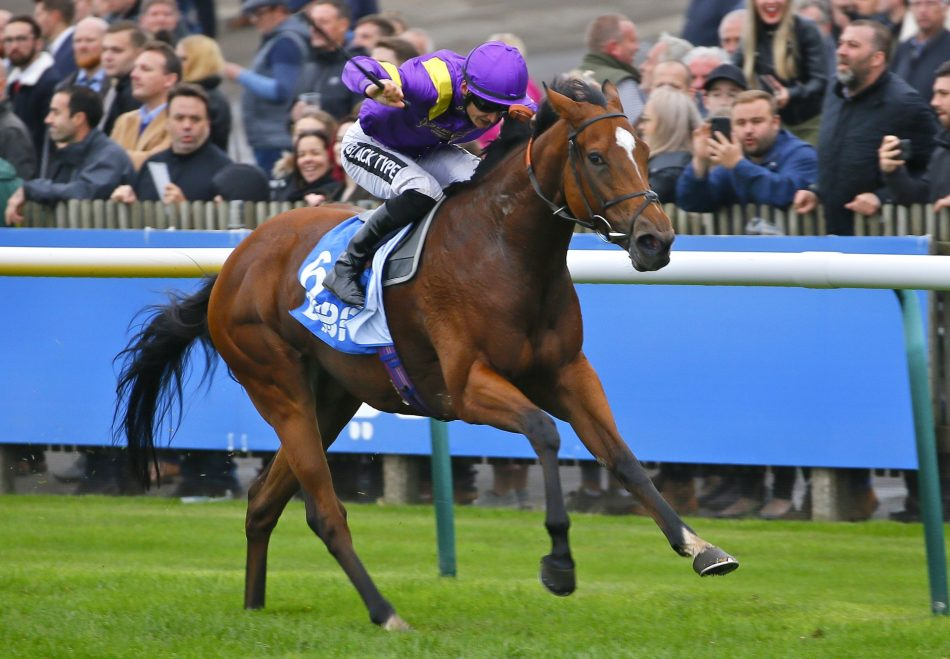 Norway (Galileo) winning the Listed Zetland Stakes at Newmarket