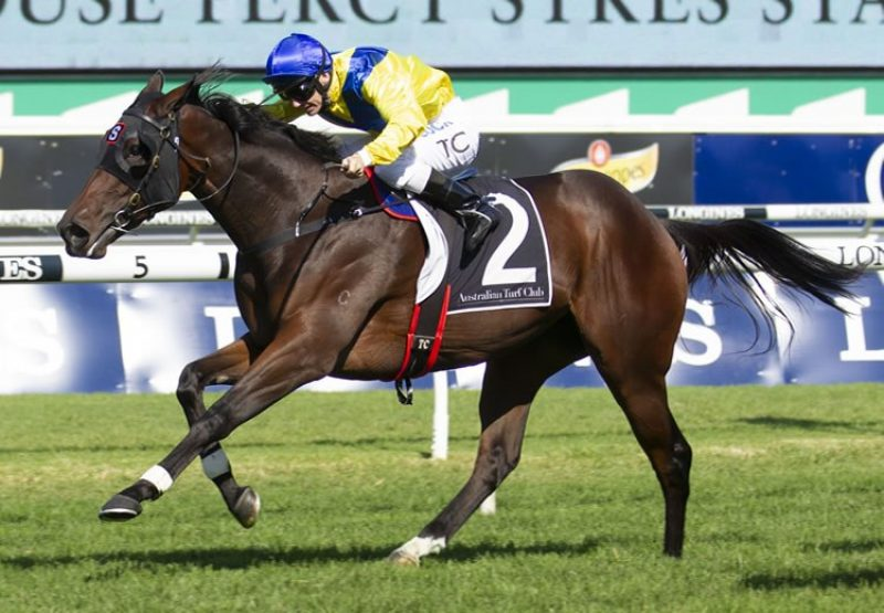 Anaheed (Fastnet Rock) winning the G2 Percy Sykes Stakes at Randwick