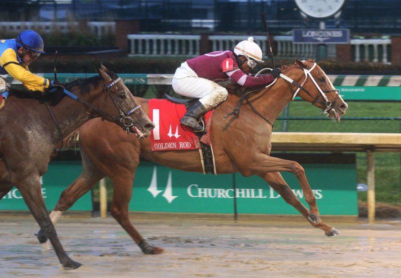 Finite (Munnings) Winning G2 Golden Rod Stakes at Churchill Downs