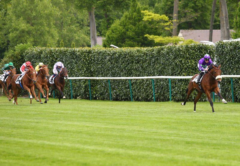 Hurricane Ivor (Ivawood) winning his maiden at Chantilly