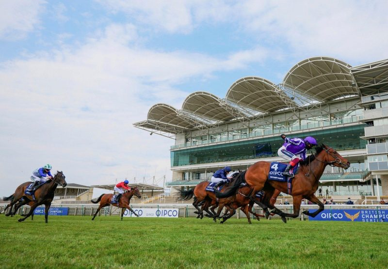 Happily (Galileo) winning the G1 Moyglare Stud Stakes at the Curragh