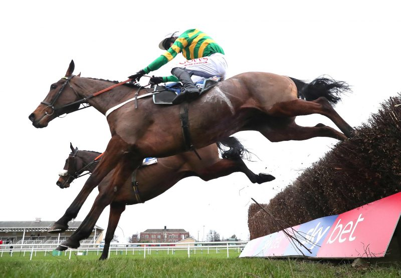 Ok Corral (Mahler) winning the Listed Chase at Doncaster