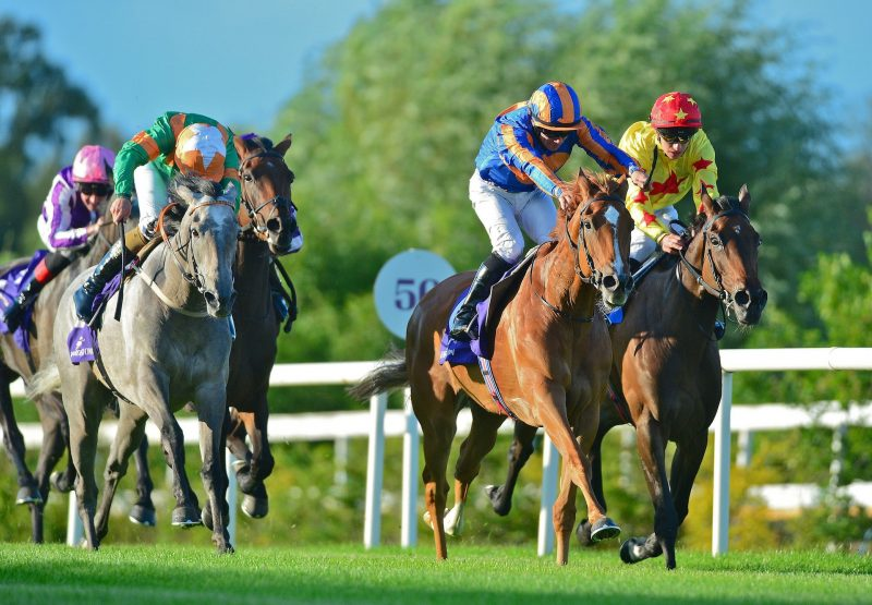 Peach Tree (Galileo) wins the Group 3 Stanerra Stakes at Leopardstown