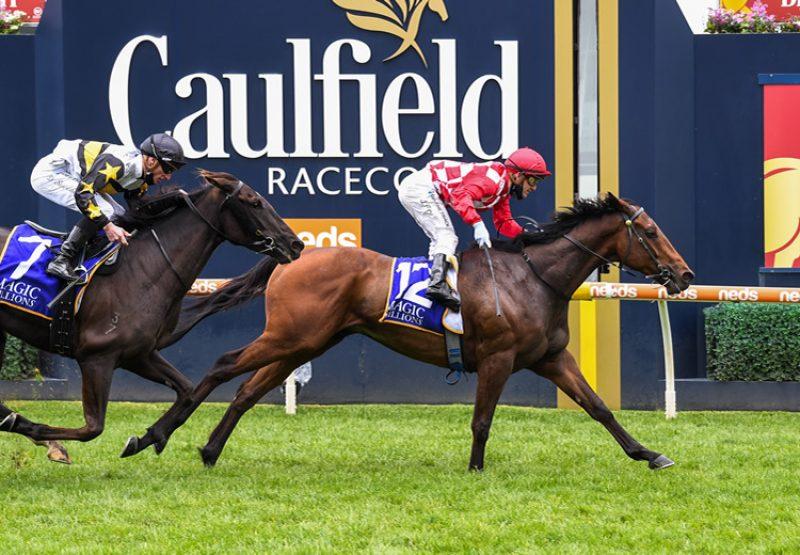 Saltpeter (Pierro) winning at Caulfield
