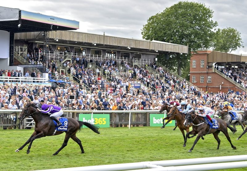 Ten Sovereigns (No Nay Never) wins the Gr.1 July Cup at Newmarket