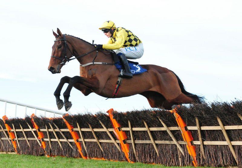 The Big Getaway (Getaway) winning his maiden hurdle at Naas