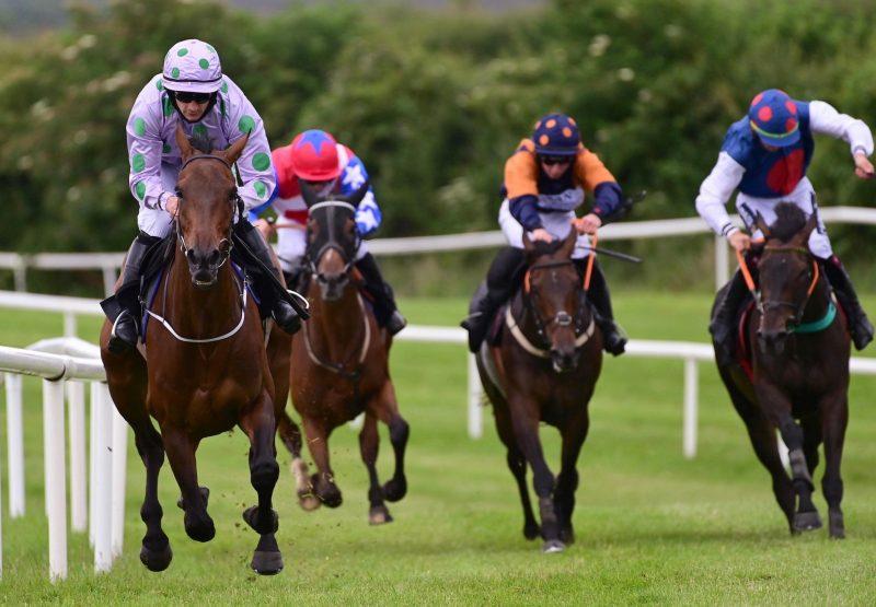 Whosgotyanow (Getaway) Wins The Mares Maiden Hurdle At Kilbeggan
