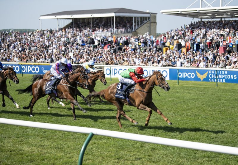 Billesdon Brook (Champs Elysees) winning the G1 1000 Guineas at Newmarket