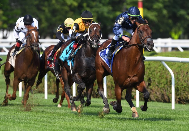 Golden Pal (Uncle Mo) winning the Quick Call Stakes at Saratoga