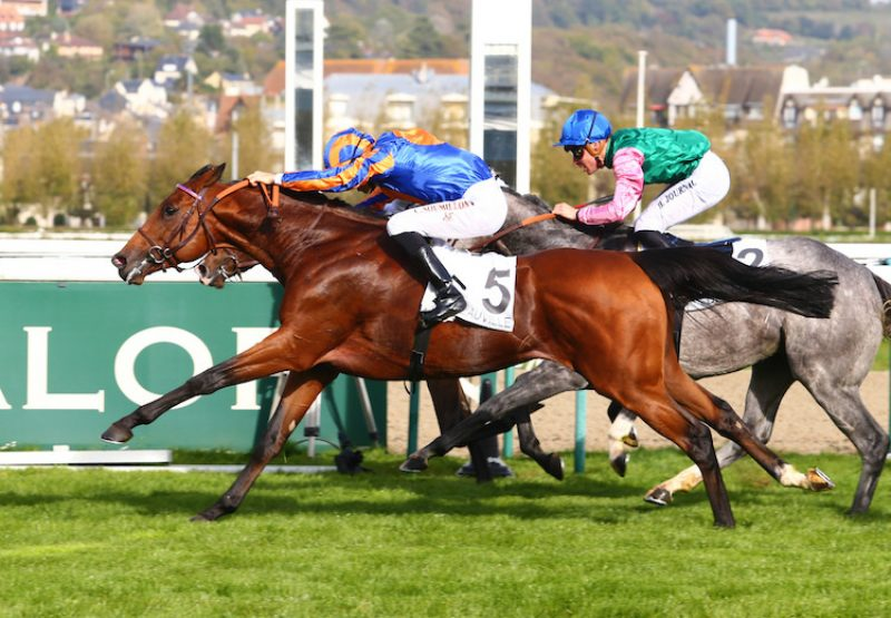King Of Leogrance (Camelot) winning the Listed Prix Vulcain at Deauville