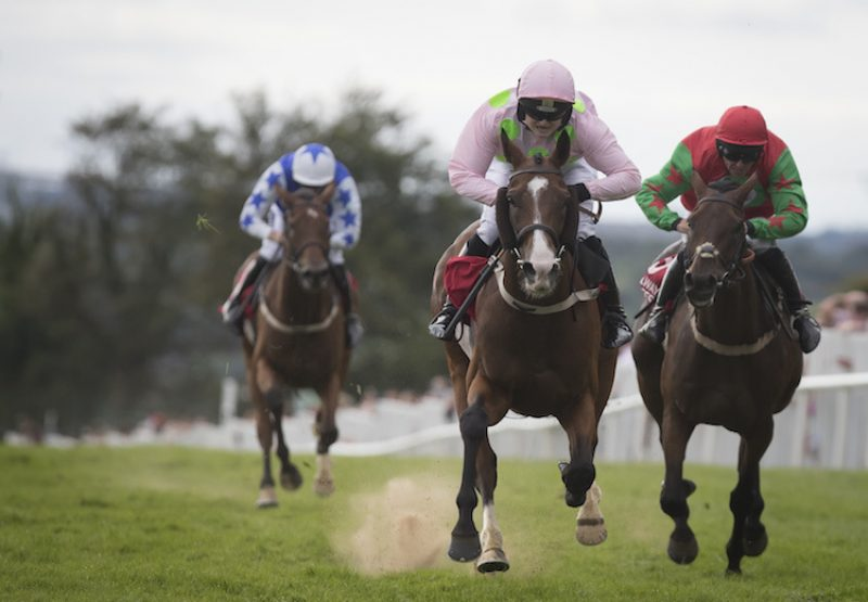 Low Sun (Champs Elysees) winning the Grade B €100,000 Galway Shopping Centre Handicap Hurdle at the Galway Festival
