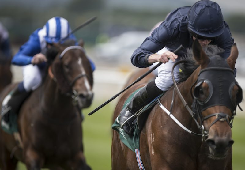 Merchant Navy (Fastnet Rock) winning the G2 Greenlands Stakes at the Curragh