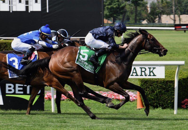 Santa Barbara (Camelot) wins The Belmont Oaks at Belmont