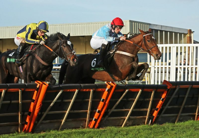 Verdana Blue (Getaway) winning the Gr.2 Elite Hurdle at Wincanton
