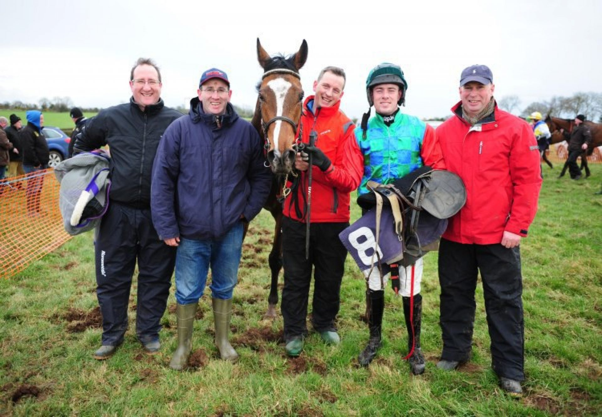 Mahler Lad (Mahler) with winning connections after winning a maiden point-to-point