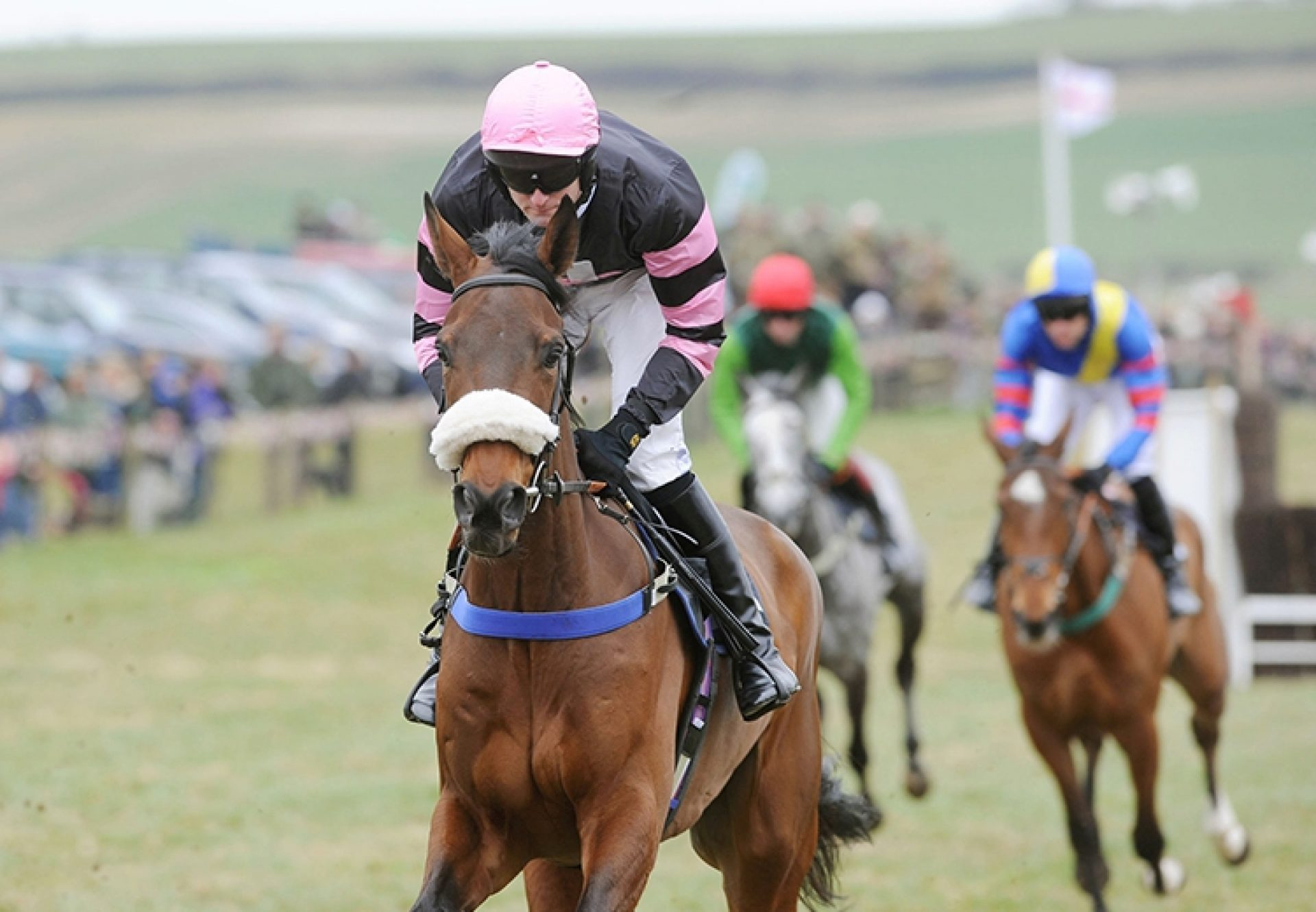 Agamemmon (Getaway) winning a point-to-point at Milbourne St Andrew