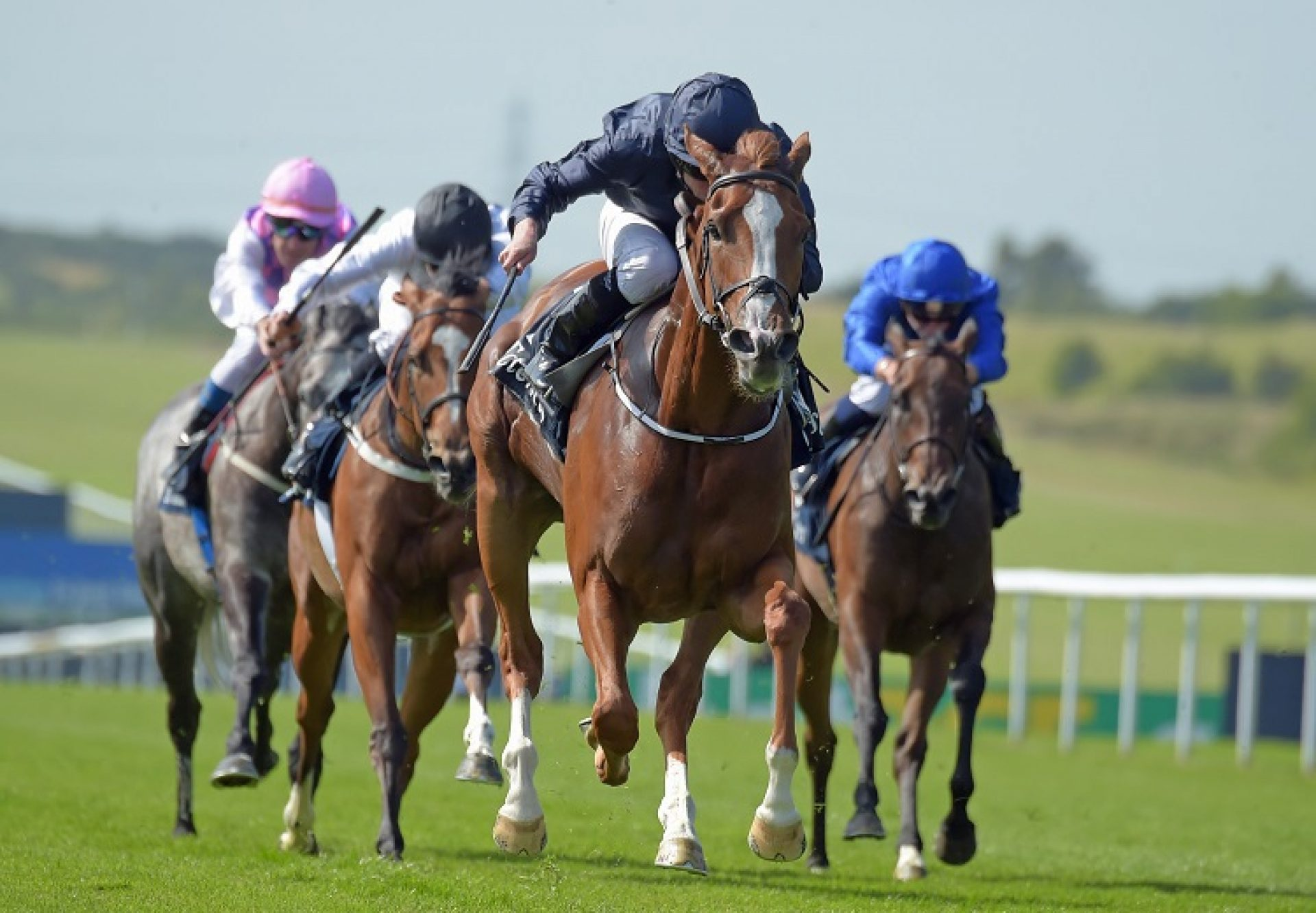Alice Springs (Galileo) winning the G1 Falmouth Stakes at Newmarket