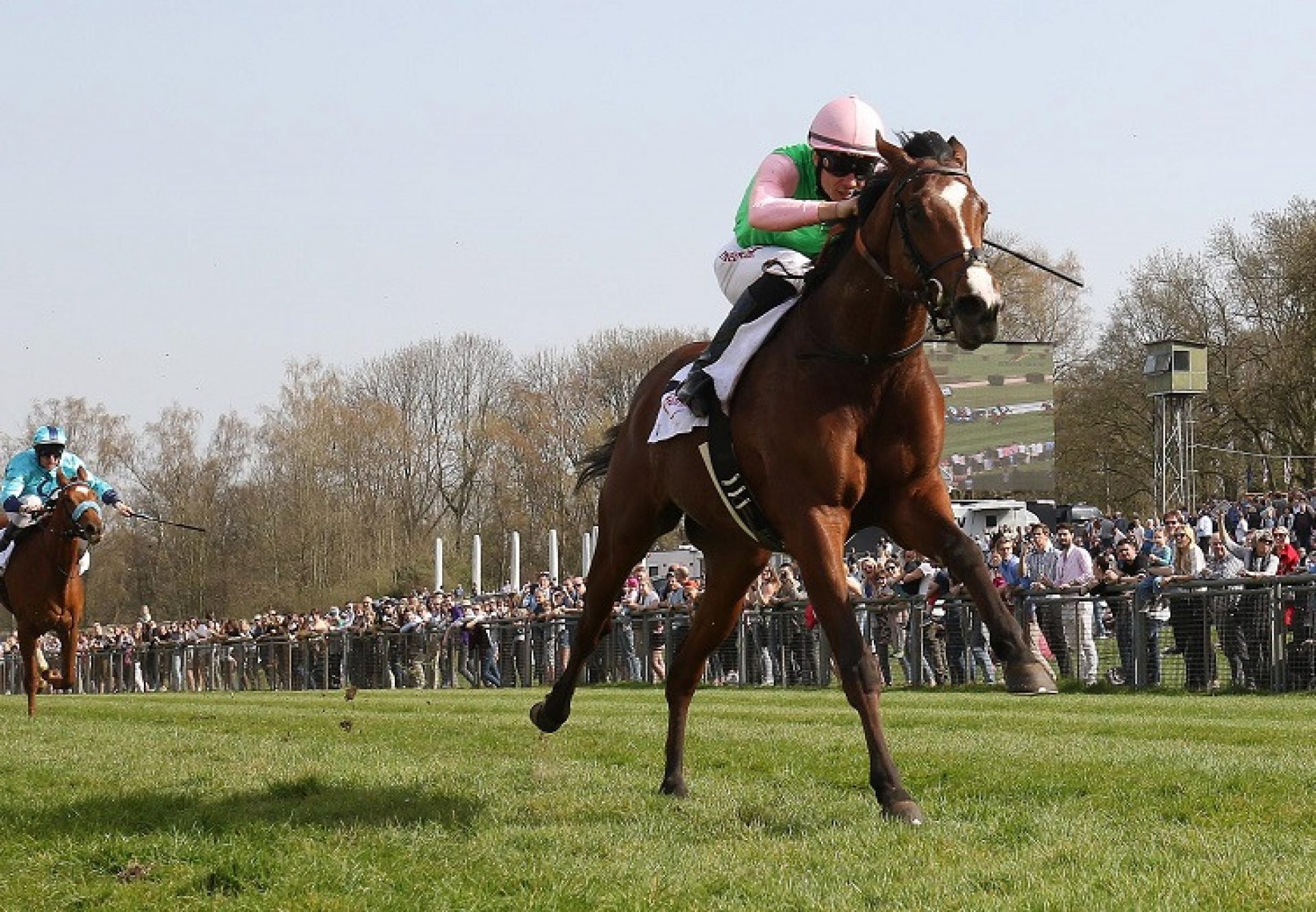 Alounak (Camelot) winning the Listed German Derby Trial at Dusseldorf