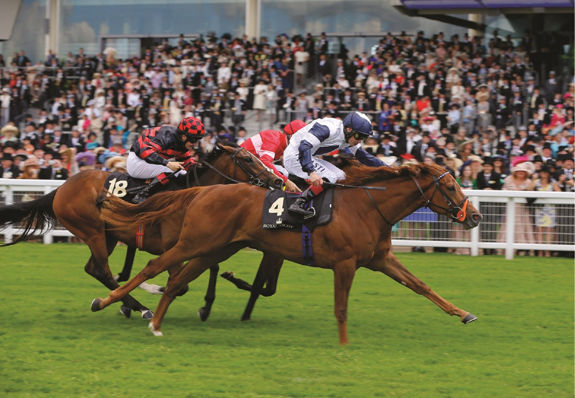 Anthem Alexander (Starspangledbanner) winning the G2 Queen Mary Stakes at Royal Ascot