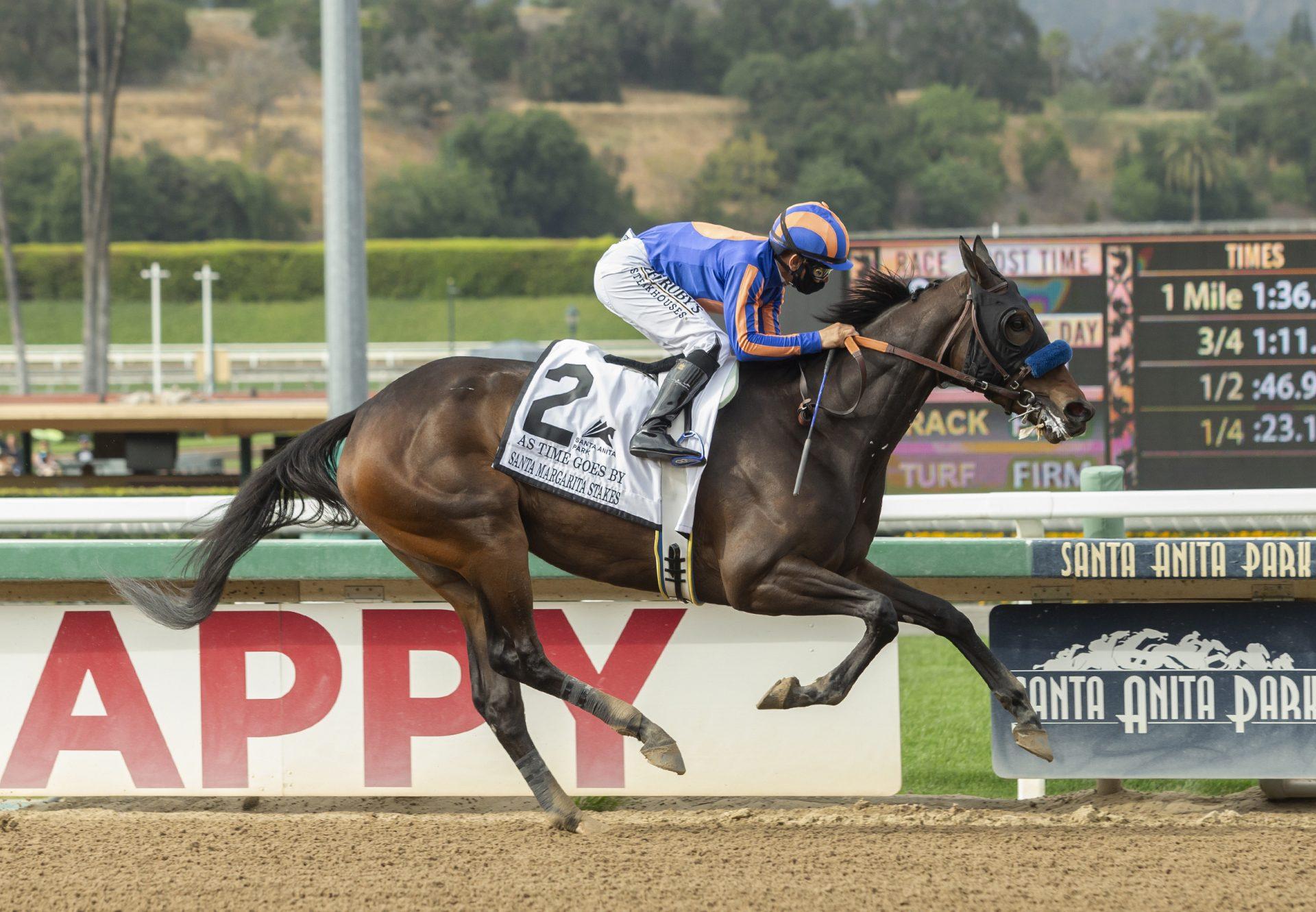 As Time Goes By (American Pharoah) wins Gr.2 Santa Margarita Stakes at Santa Anita