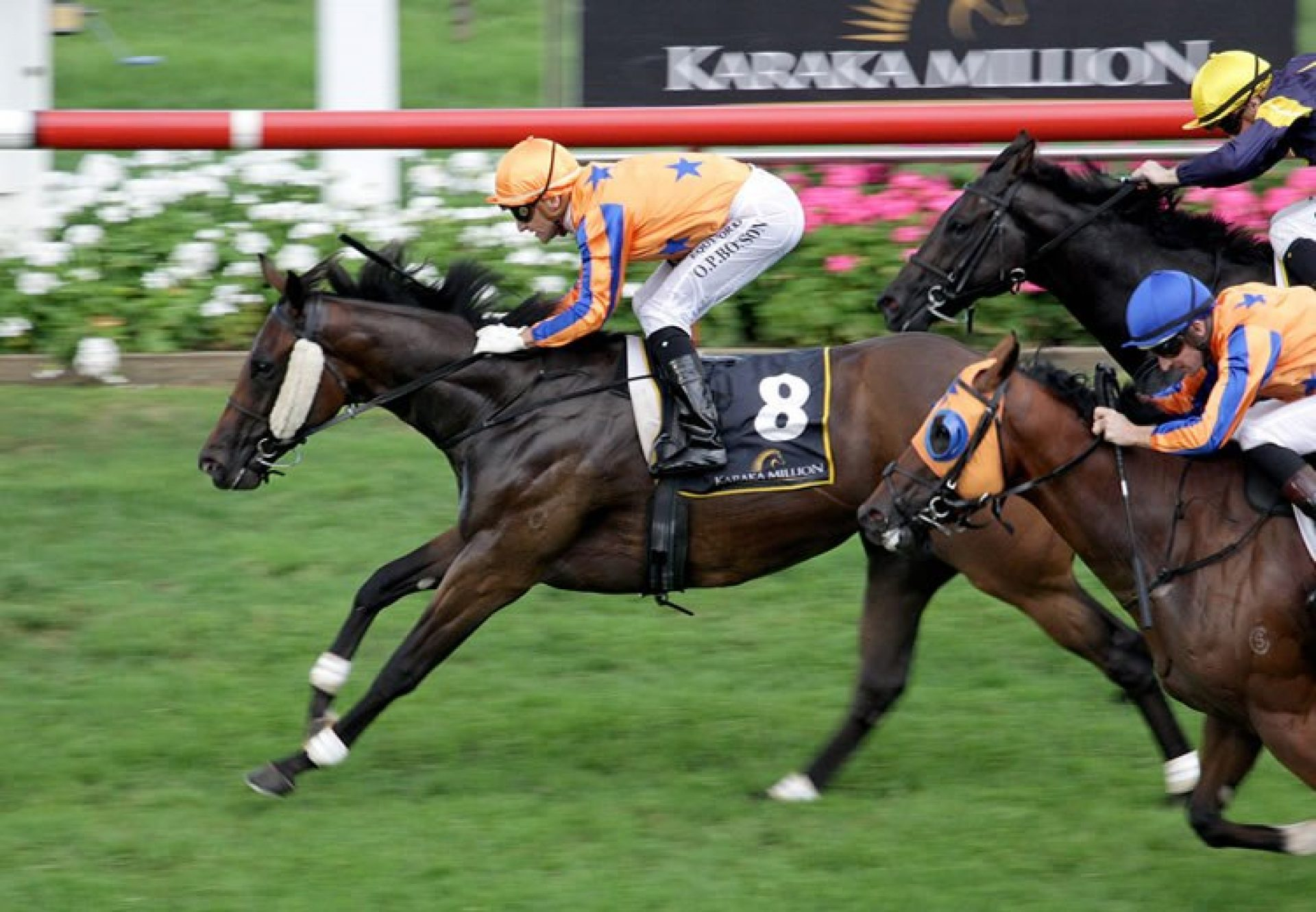Avantage (Fastnet Rock) winning the Listed Karaka Million at Ellerslie