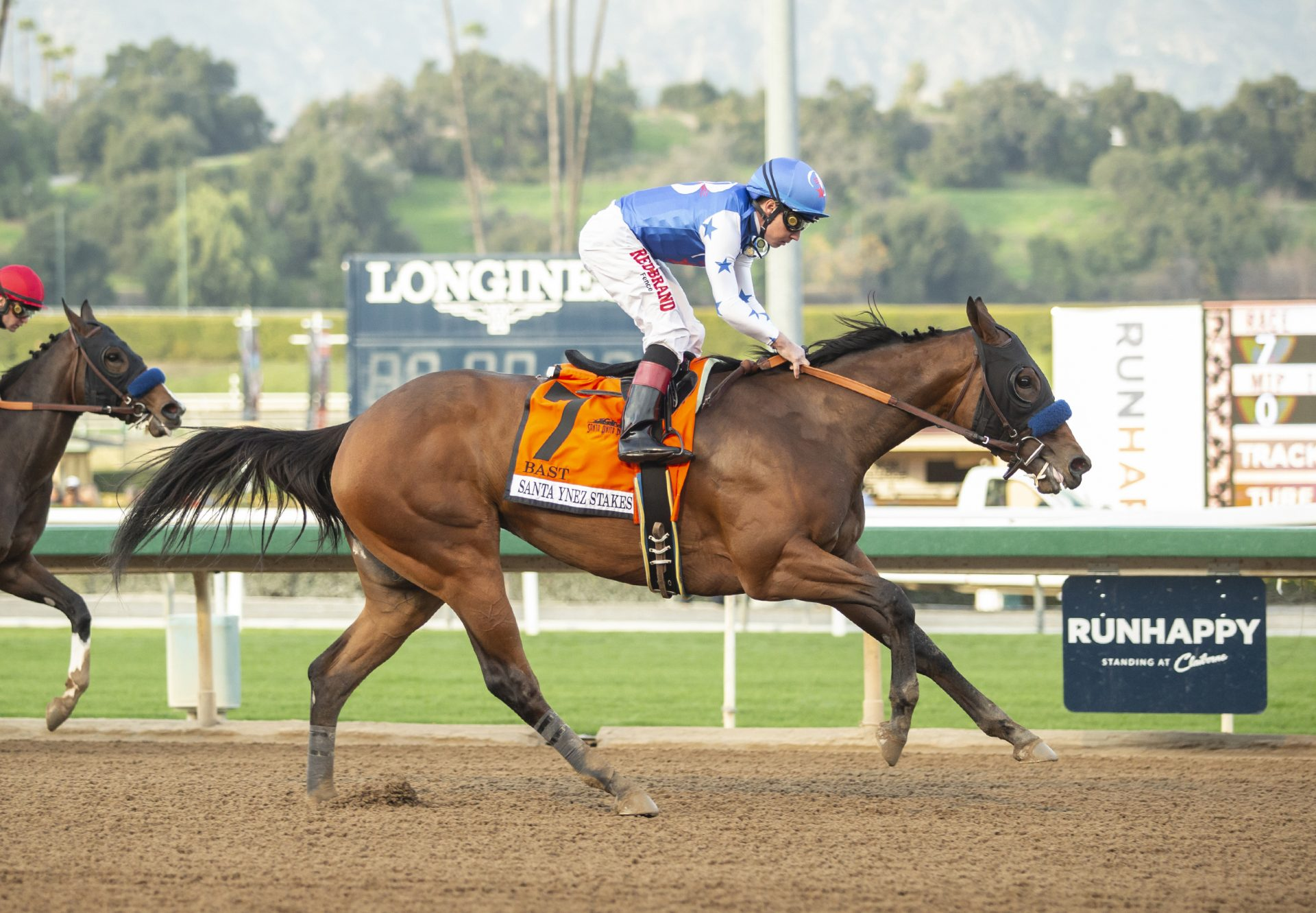 Bast (Uncle Mo) Winning Gr.2 Santa Ynez at Santa Anita
