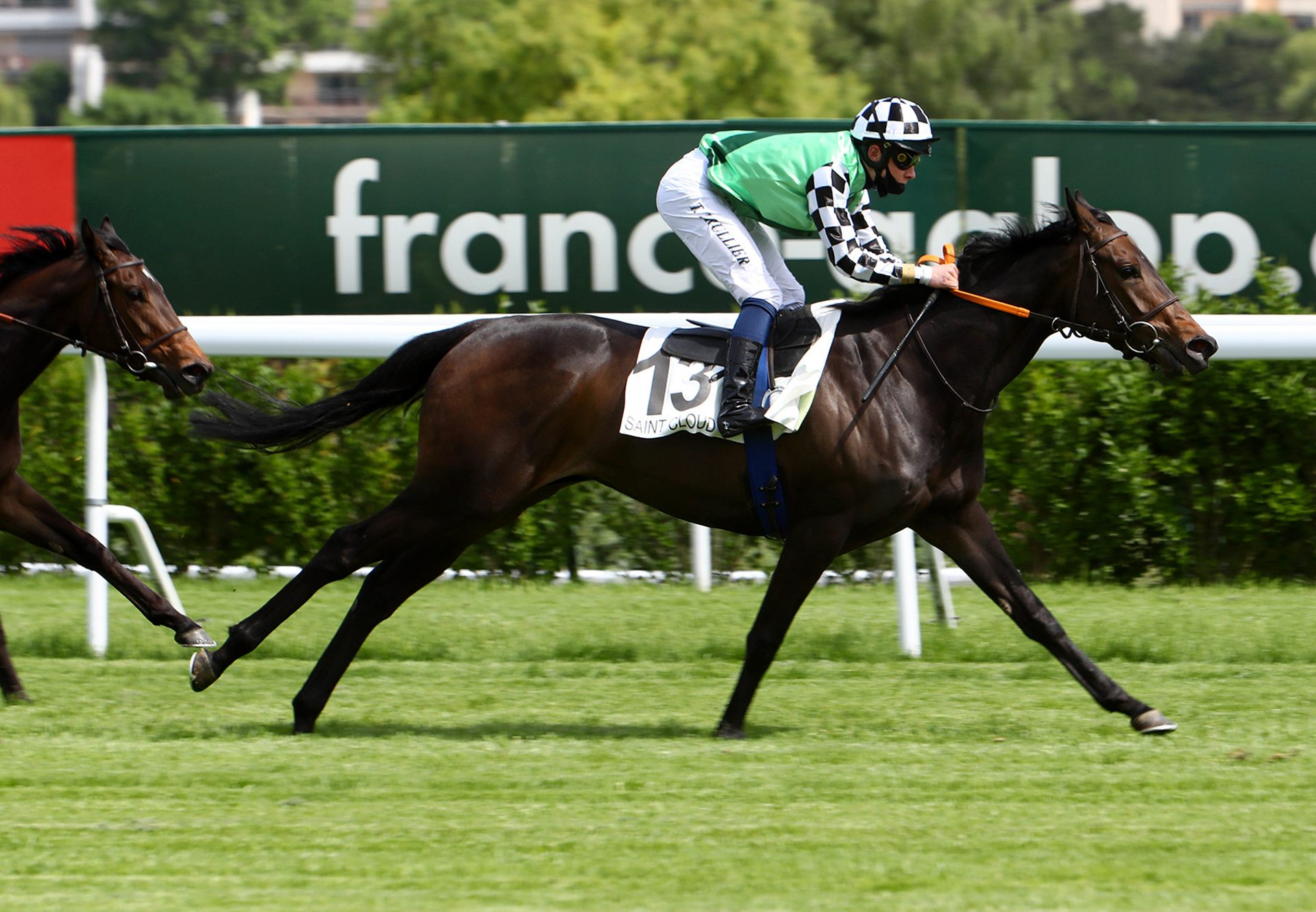 Beaute Pour Toi (Camelot) winning on debut at Saint Cloud