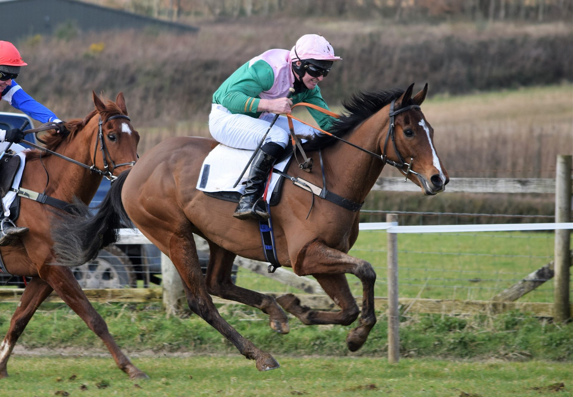 Bravo Buddy (Leading Light) winning at Great Trethew Point-to-Point