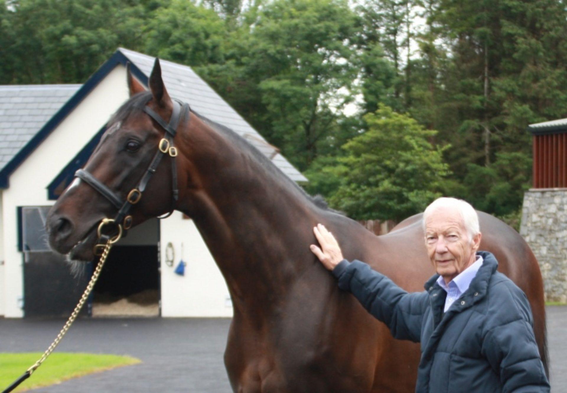 Camelot & Lester Piggott at Coolmore