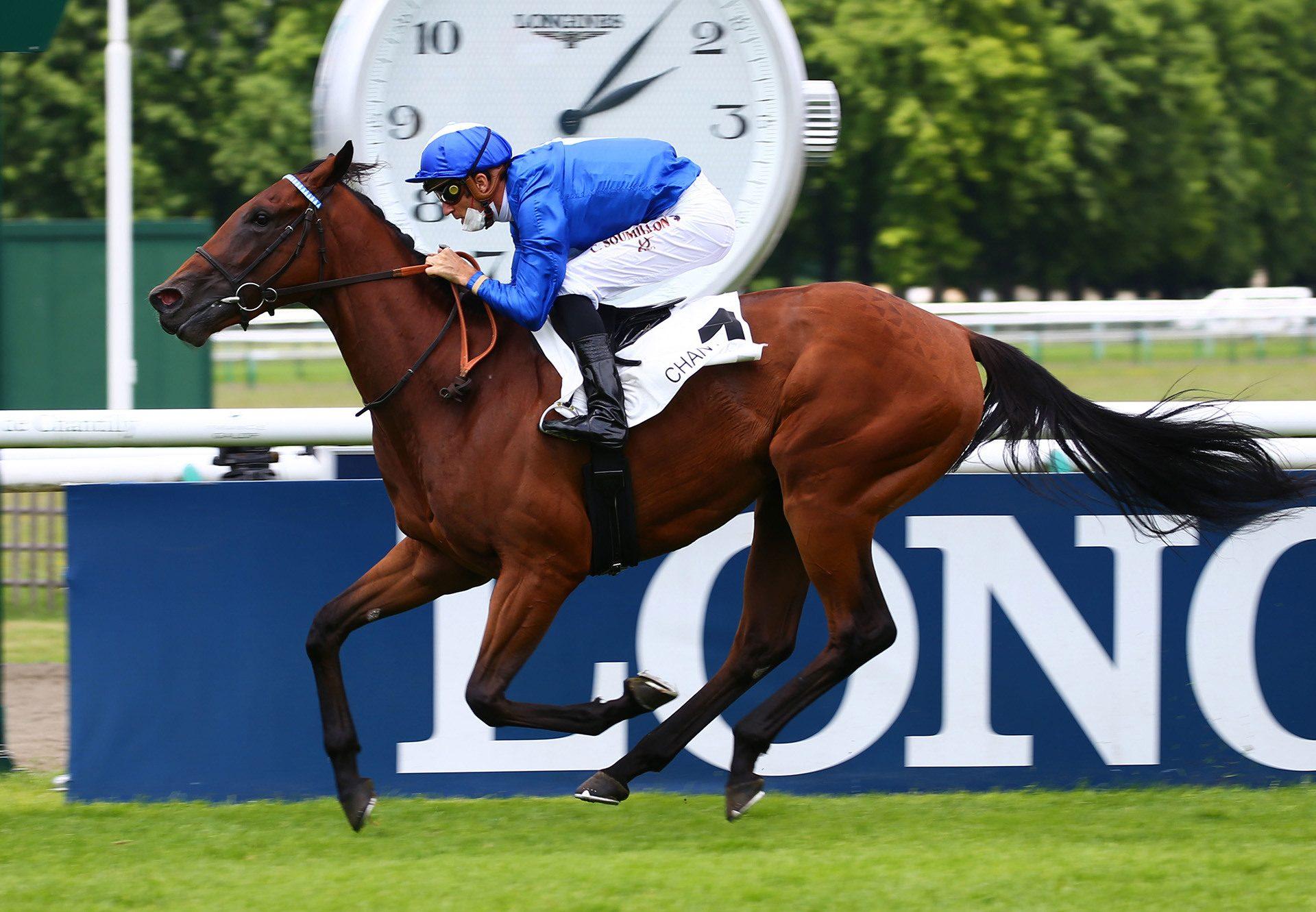 Dancinginthestreet (Churchill) winning at Chantilly