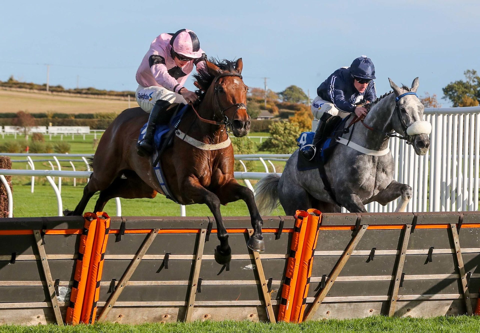 Do Not Disturb (Mahler) winning over hudles at Kelso