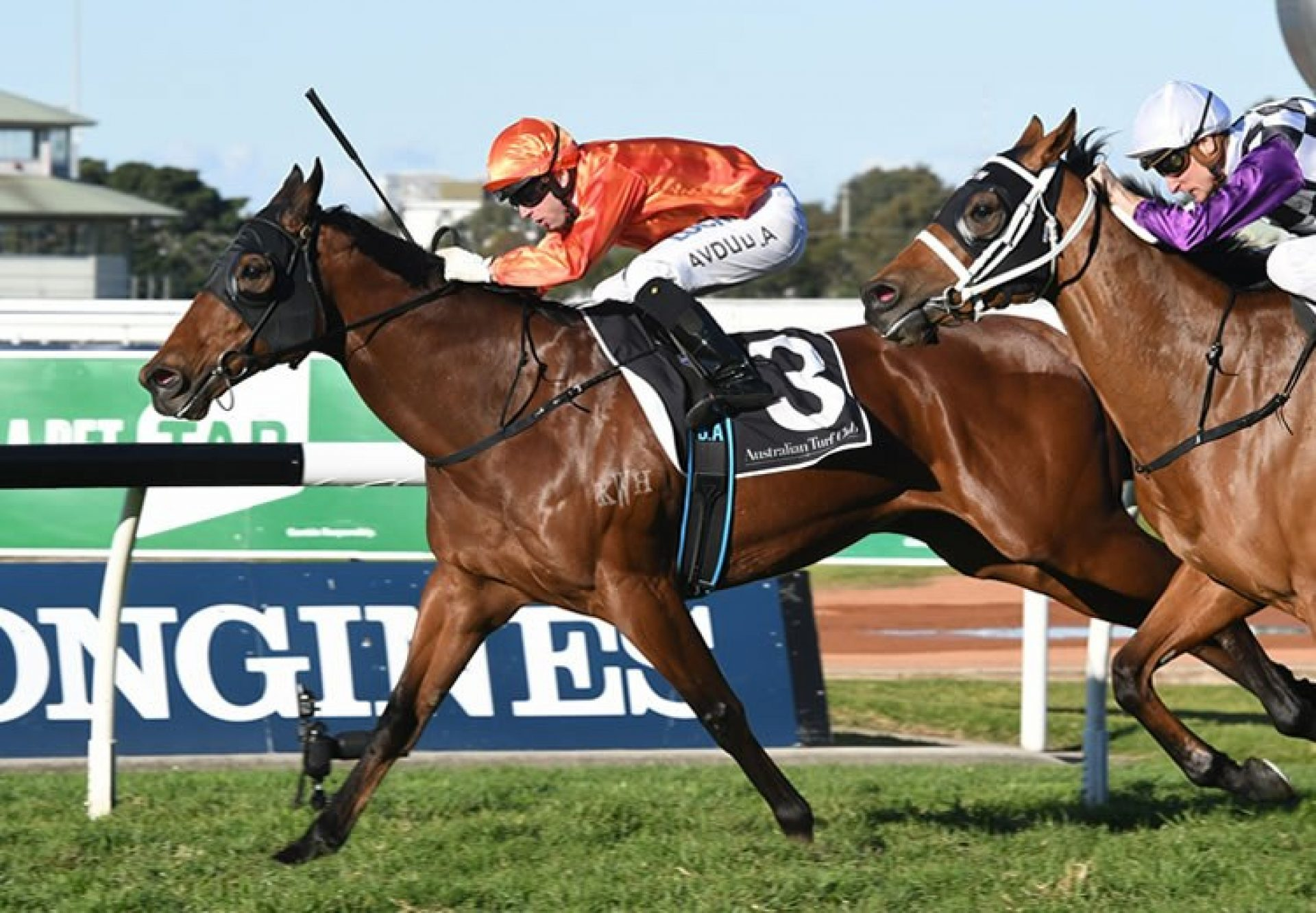 Dreamforce (Fastnet Rock) winning the Listed ATC Winter Stakes at Rosehill