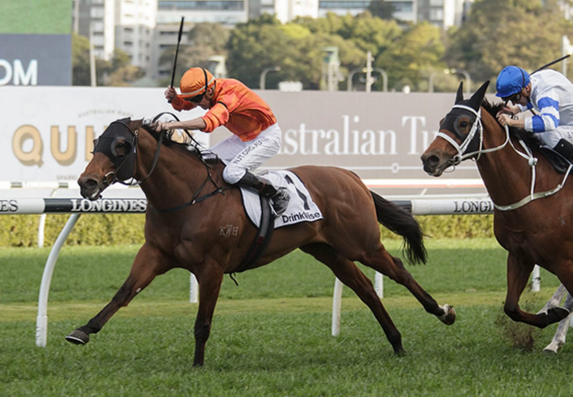 Dreamforce (Fastnet Rock) wins the Gr.2 ATC Tramway Stakes at Randwick