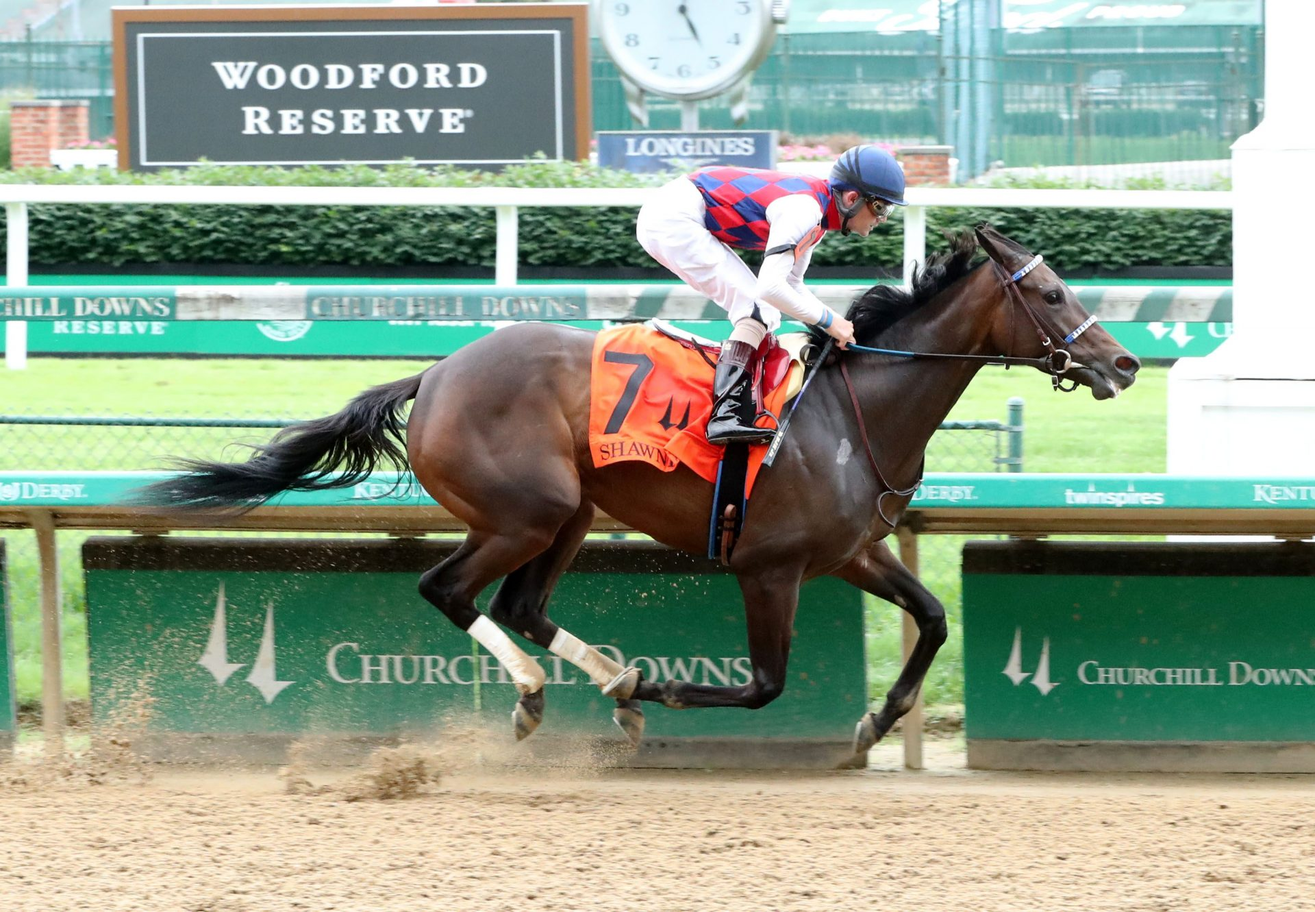 Envoutante (Uncle Mo) Winning the Shawnee Stakes at Churchill Downs