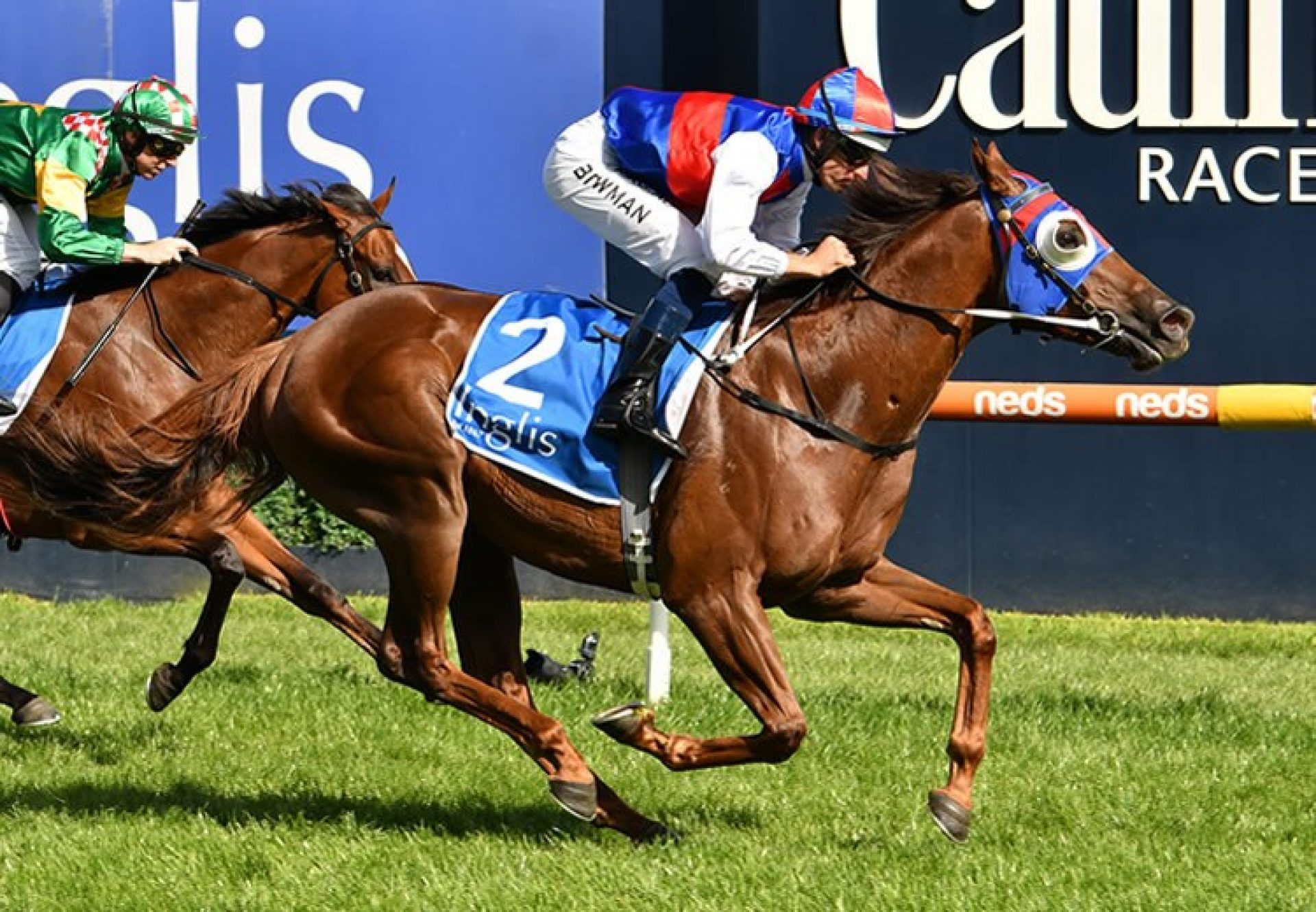 Excess Funds (Rubick) winning the Inglis Dash at Caulfield