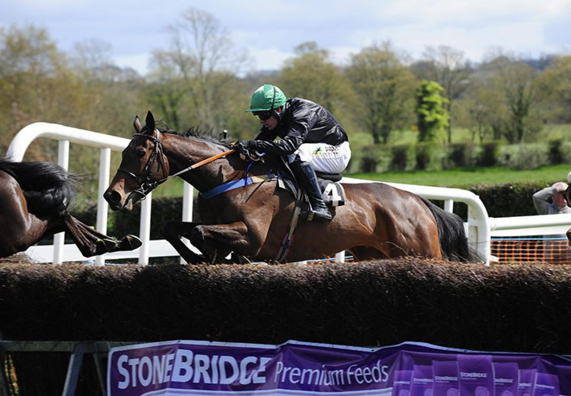 Getabird (Getaway) winning his point-to-point at Largy