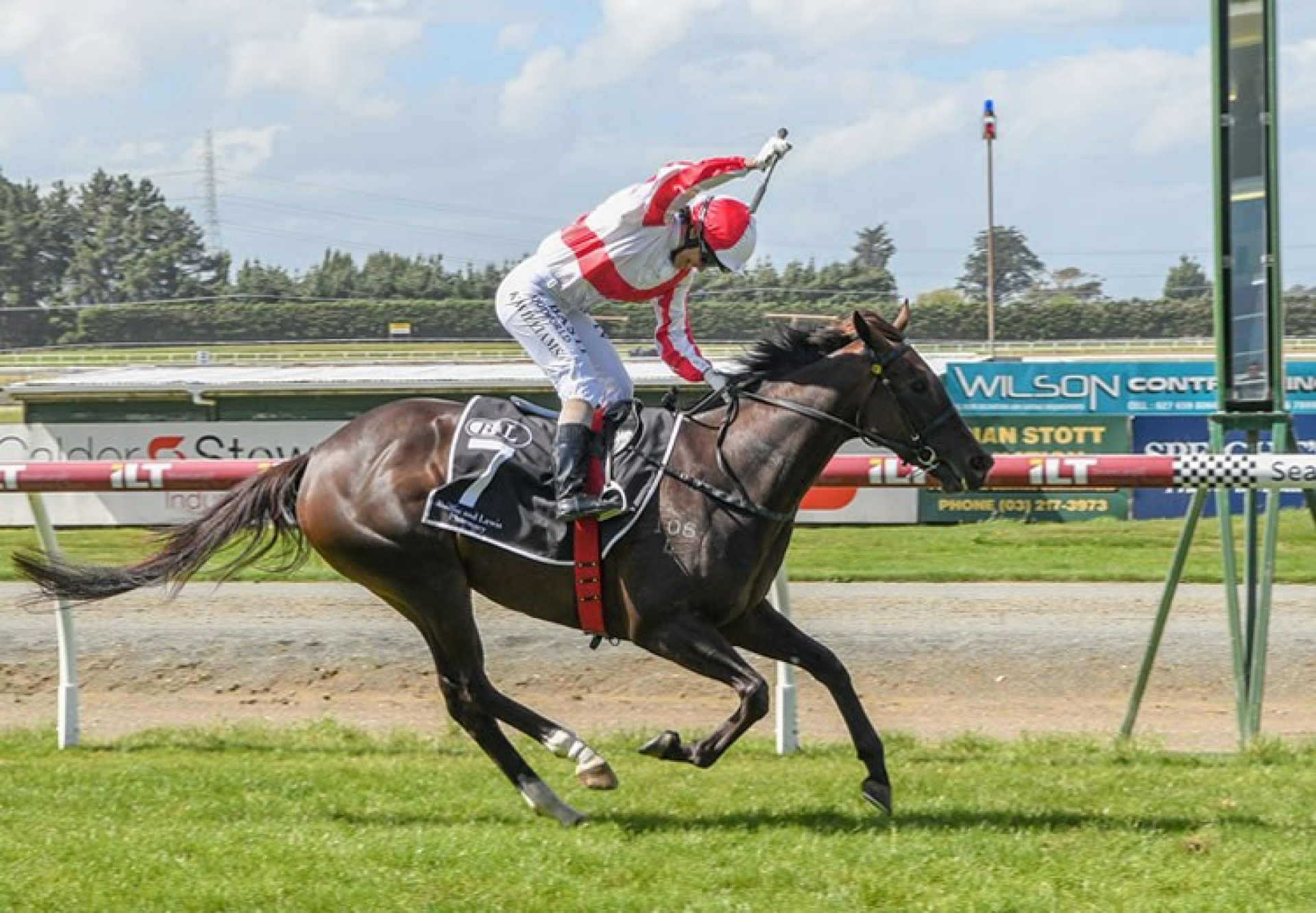 Global Thinking (So You Think) winning the Listed Southland Guineas in New Zealand