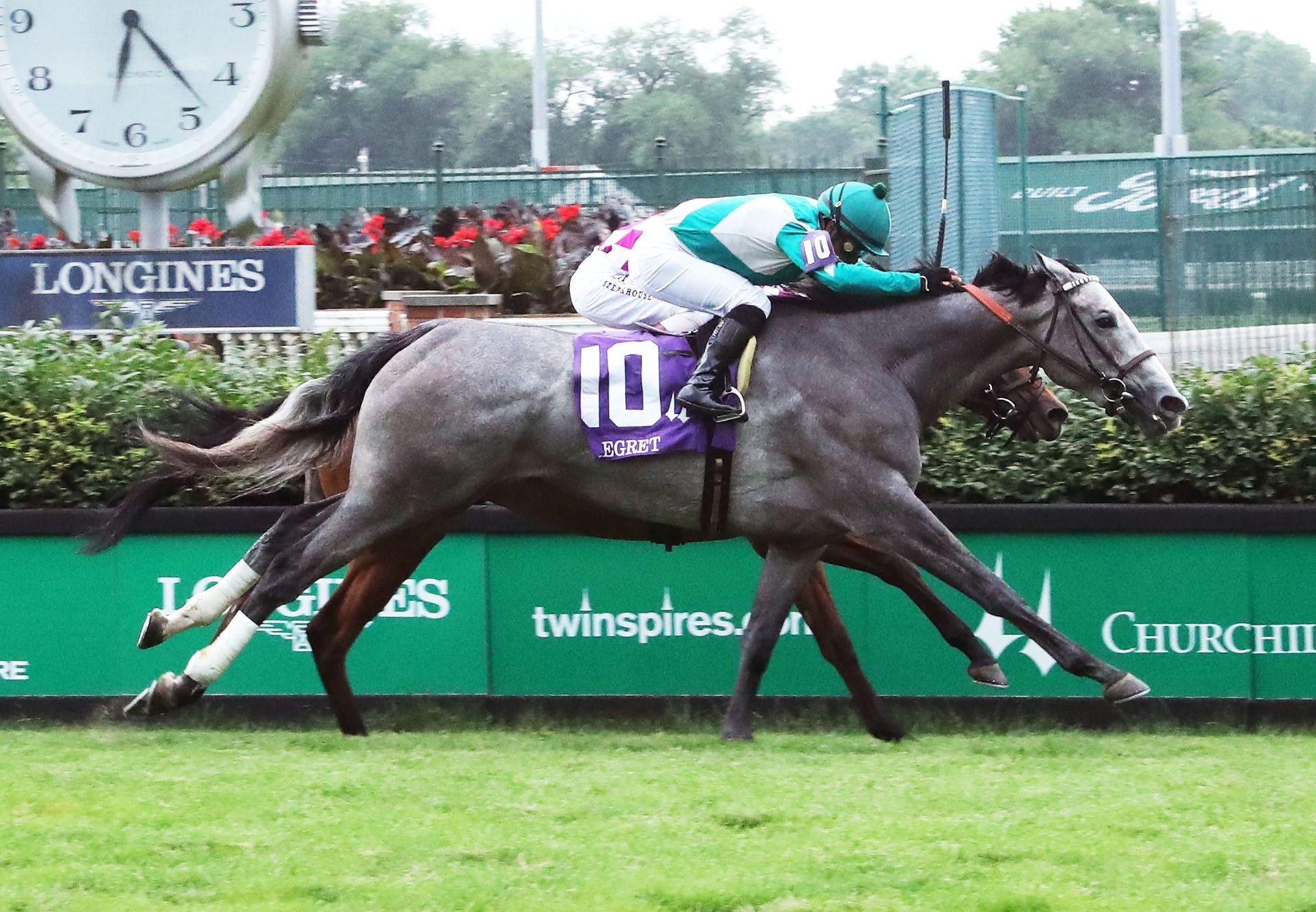 Harveys Lil Goil (American Phaorah) wins the G3 Regret Stakes at Churchill Downs