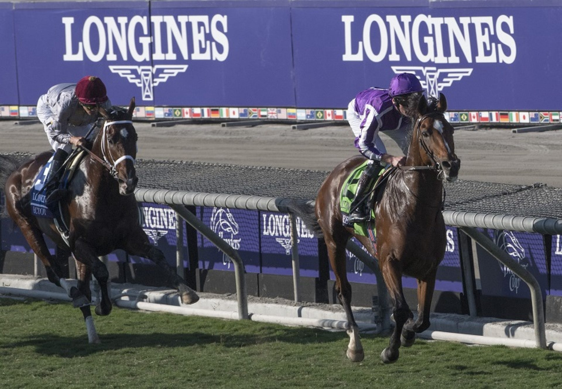 Highland Reel winning the G1 Breeders Cup Turf