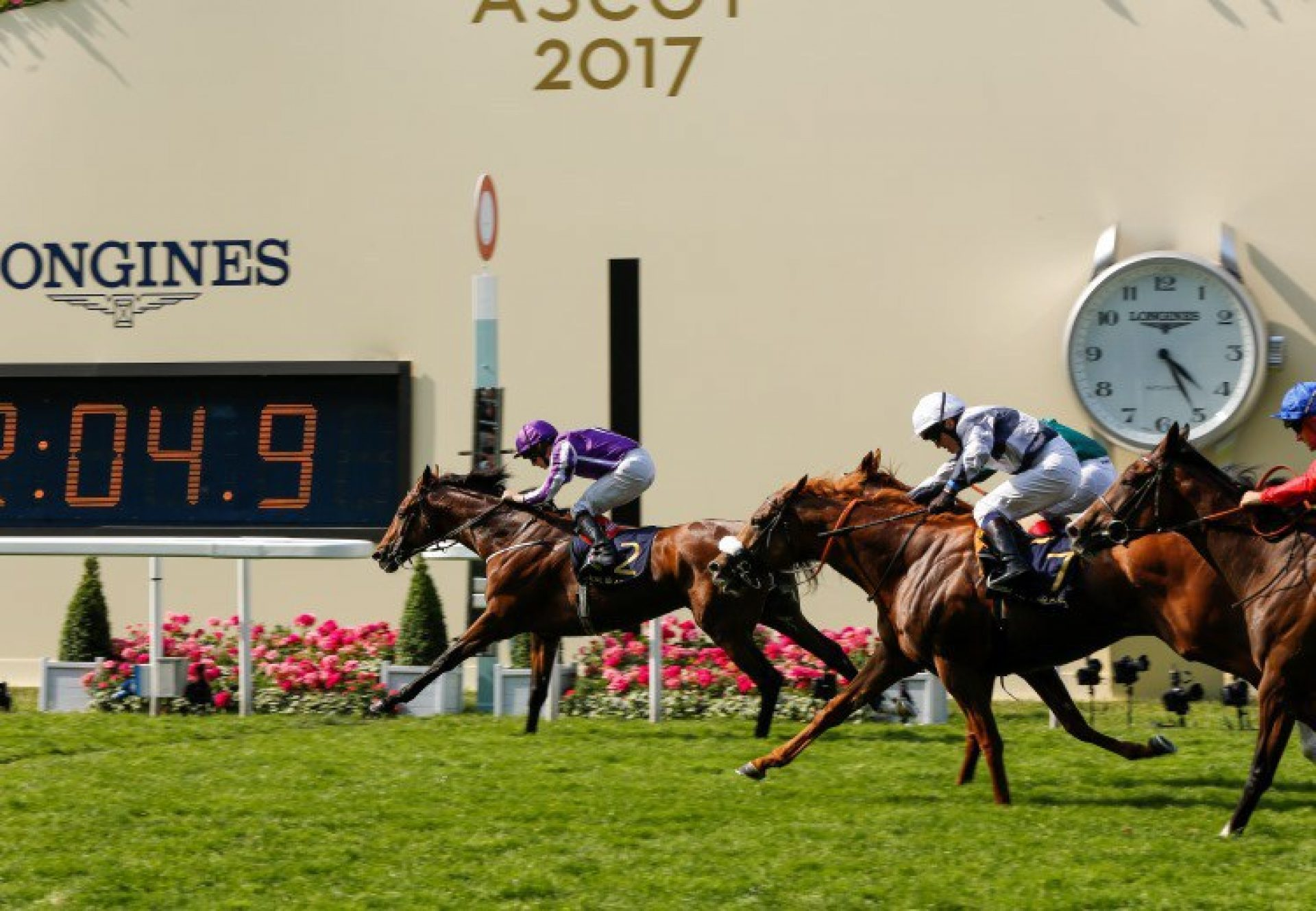 Highland Reel winning the G1 Prince Of Wales's Stakes at Royal Ascot