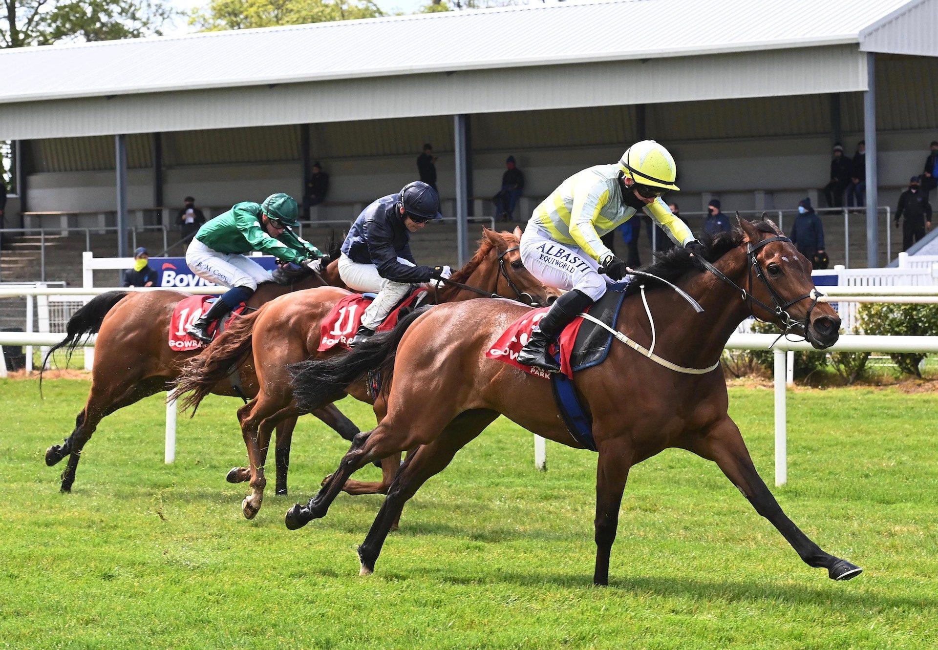 Torcedor (Fastnet Rock) winning the Sagaro Stakes (Gr.3) at Ascot