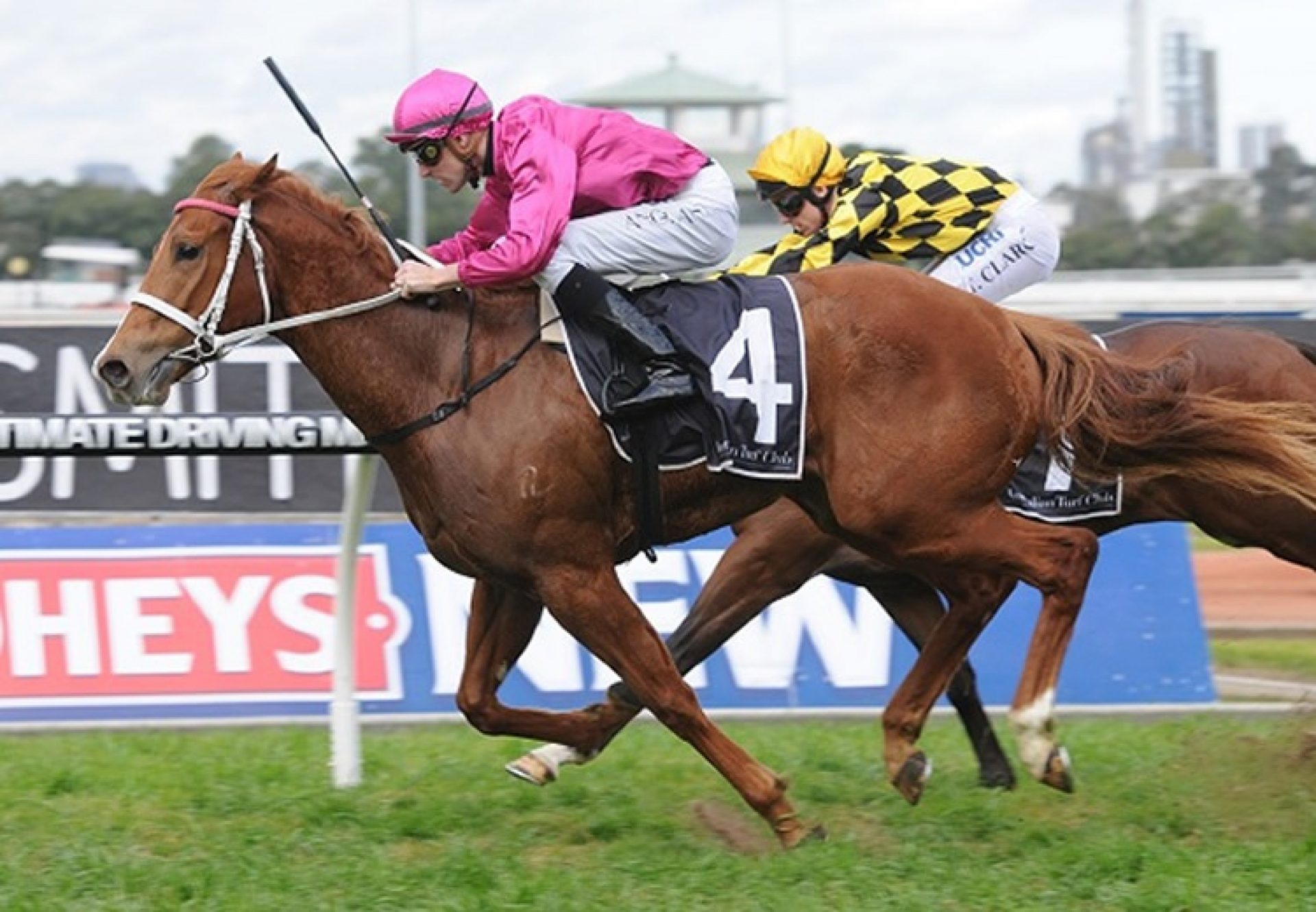 Japonismes (Choisir) winning the G3 ATC San Domenico Stakes at Rosehill