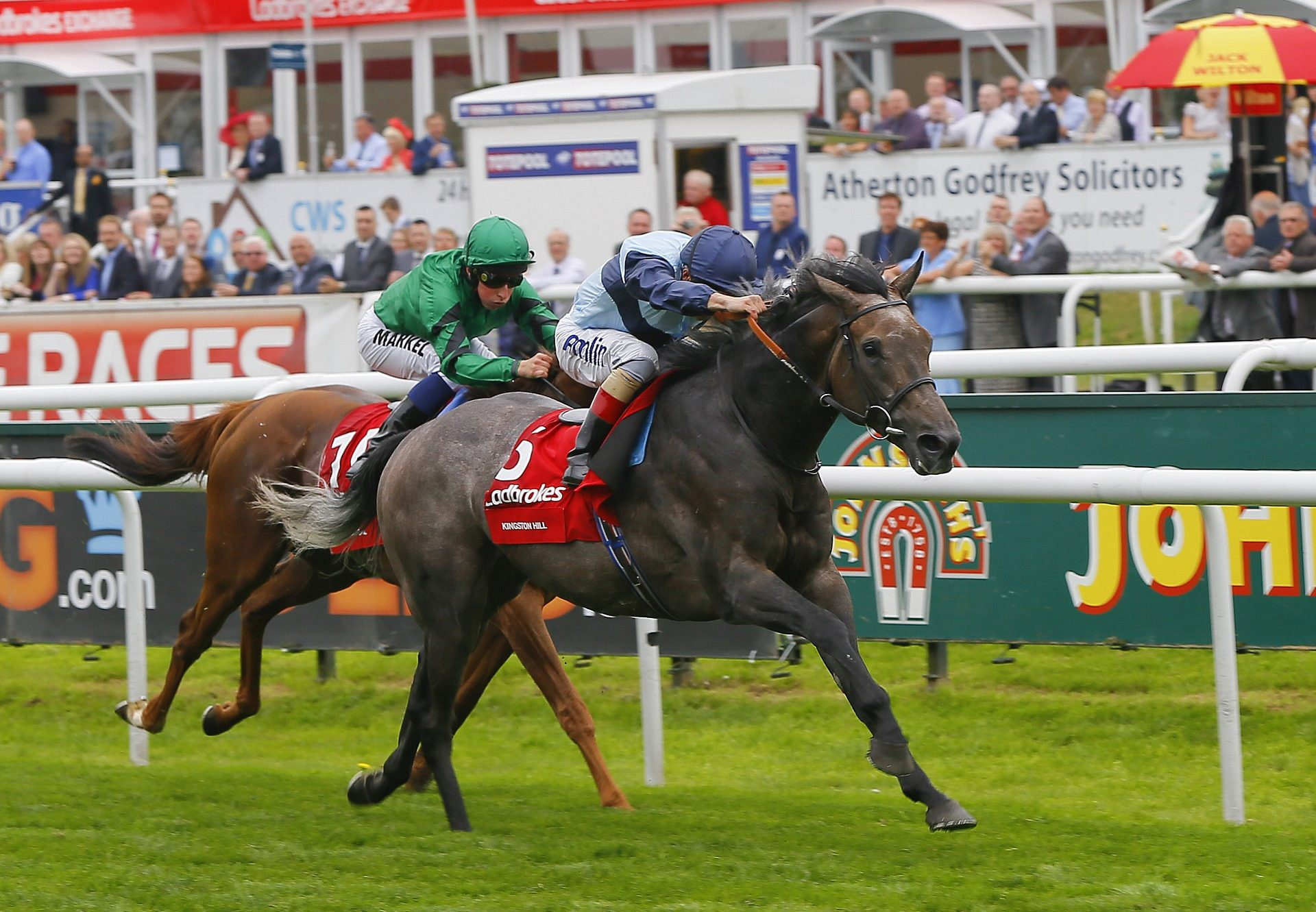 Kingston Hill (Mastecraftsman) Winning The G1 St Leger At Doncaster
