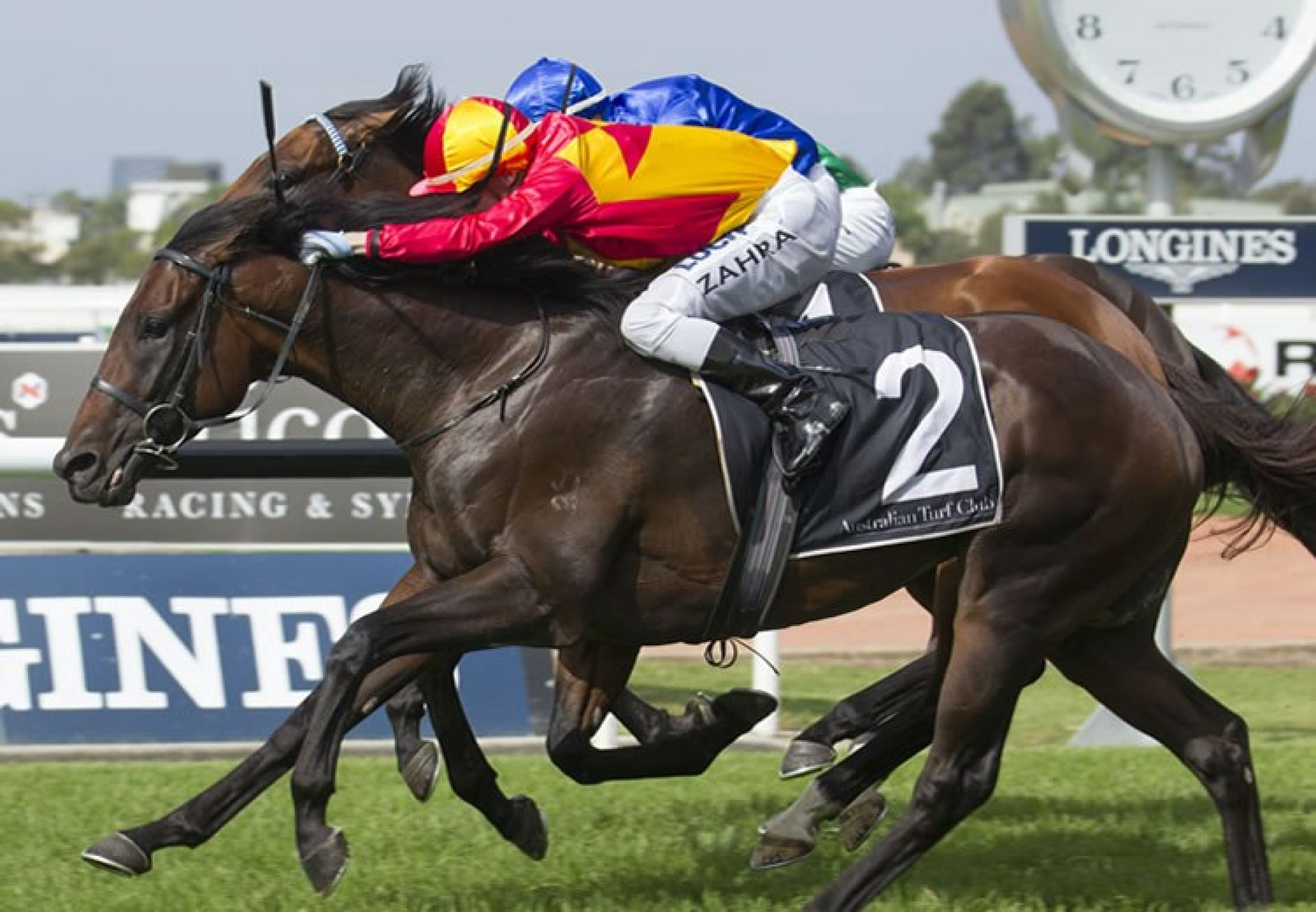 Levendi (Pierro) winning the G2 Tulloch Stakes at Rosehill