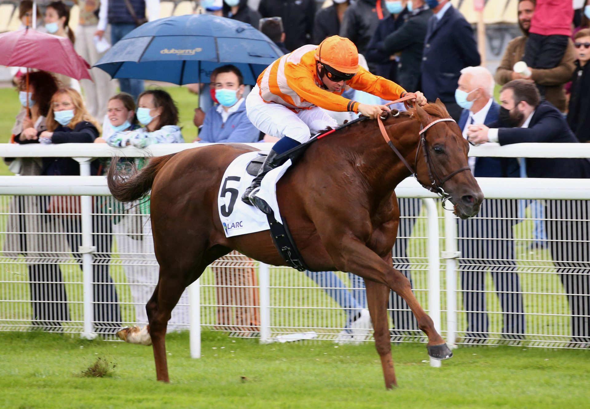 Marianafoot (Footstepsithesand) Wins The Group 1 Prix Maurice De Gheest at Deauville