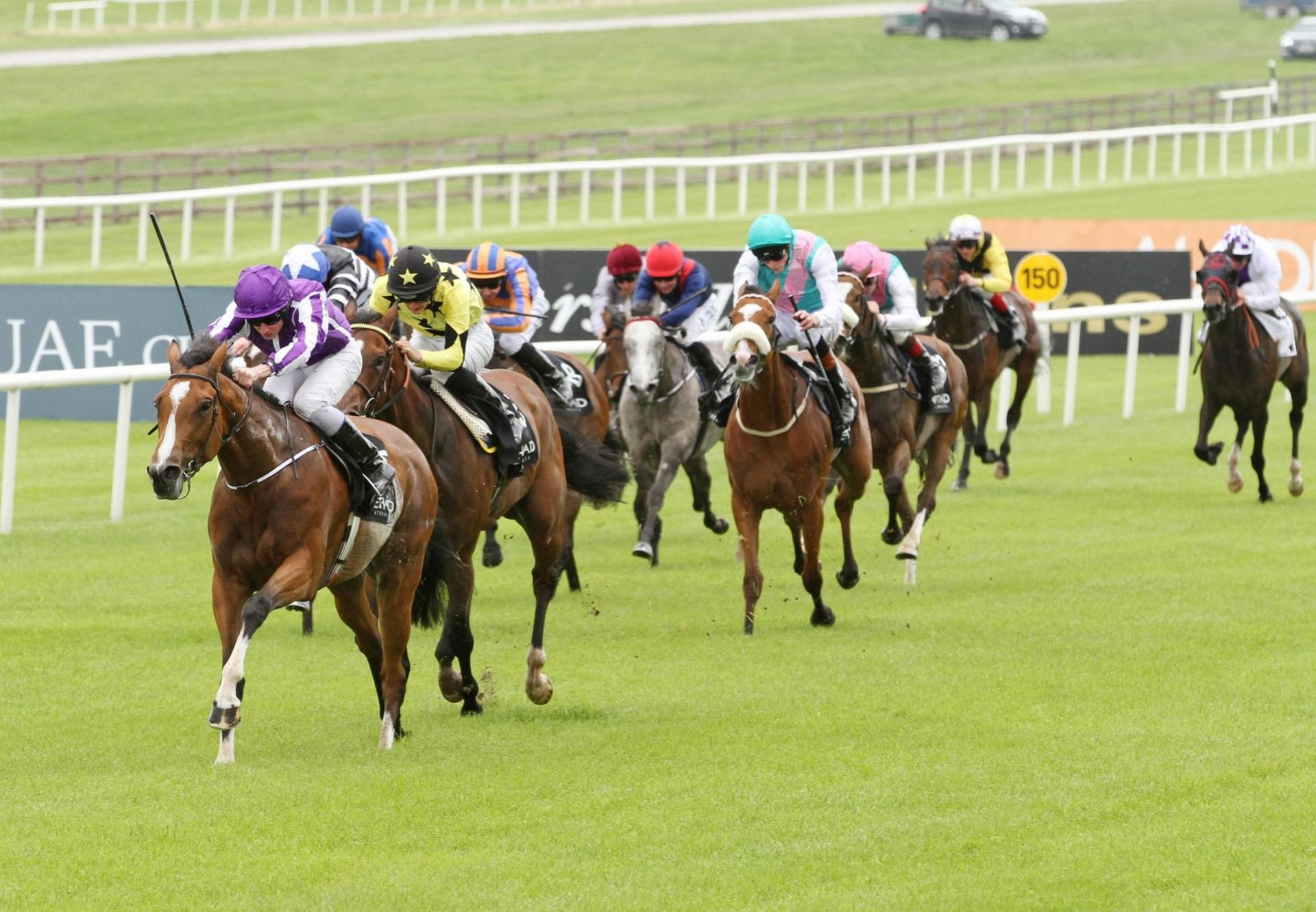 Marvellous (Galileo) winning the G1 Irish 1000 Guineas at the Curragh