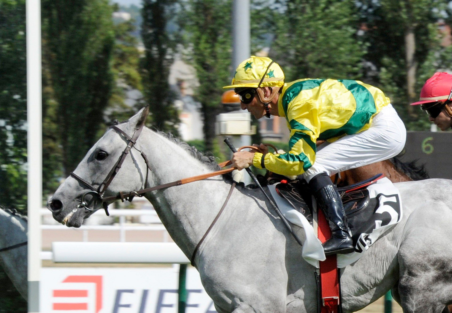 Masters Spirit (Mastercraftsman) winning the Listed Prix Hubert Baguenault de Puchesse at Vichy